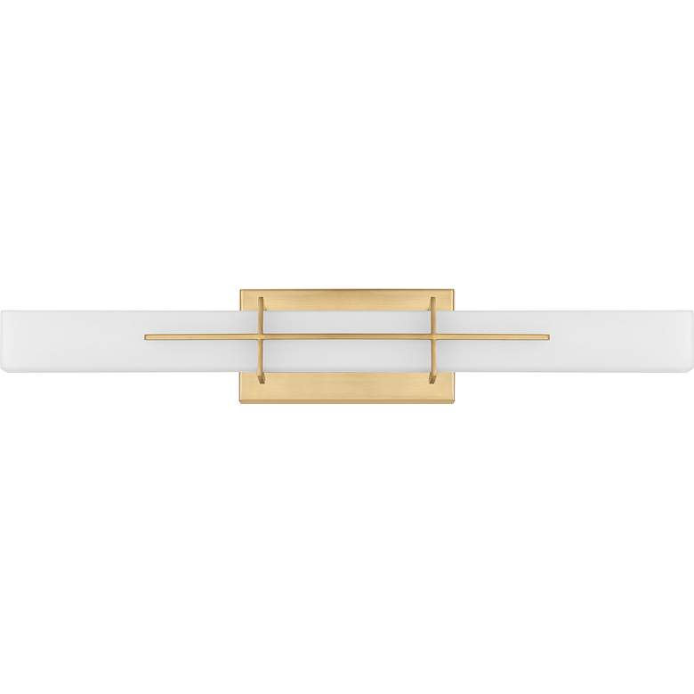 "Quoizel Gemini 28 1/4"" Wide Aged Brass LED Bath Light more views"
