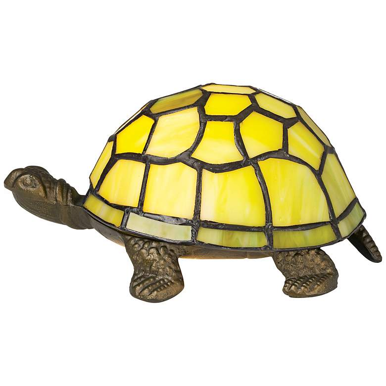 Green Tortoise Tiffany Style Accent Lamp more views