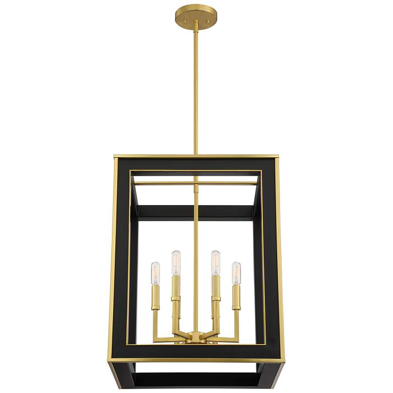 "Quoizel Burwell 18 1/4""W Matte Black 6-Light Foyer Pendant more views"