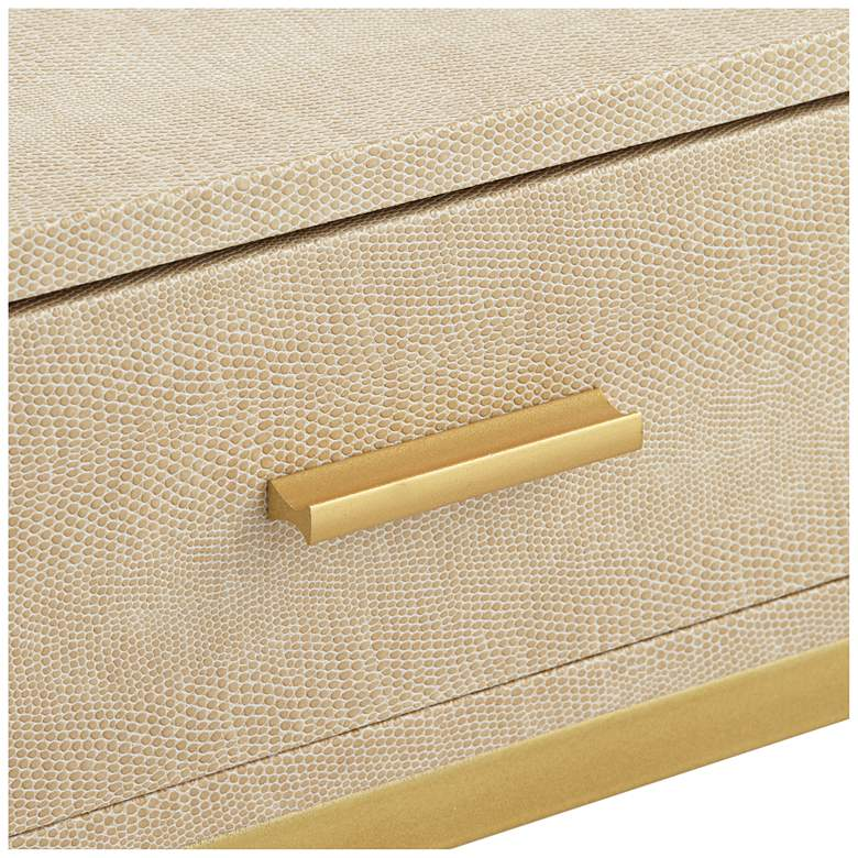 "Les Revoires 16"" Wide Cream and Gold 1-Drawer Accent Table more views"