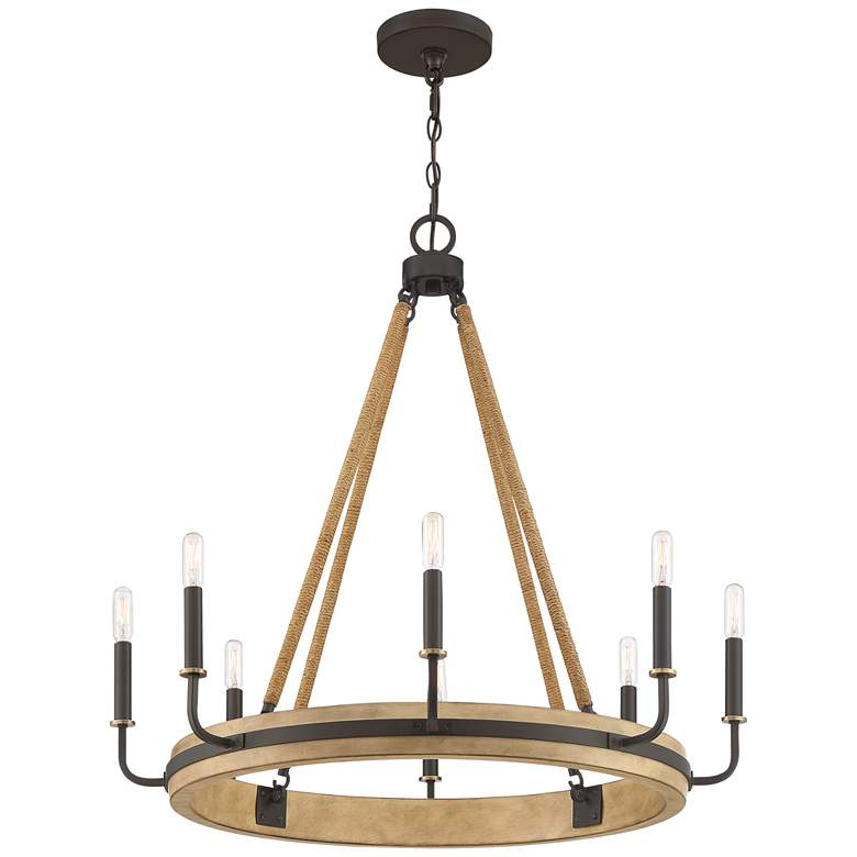 "Quoizel Kearney 31 1/4""W Western Bronze 8-Light Chandelier more views"