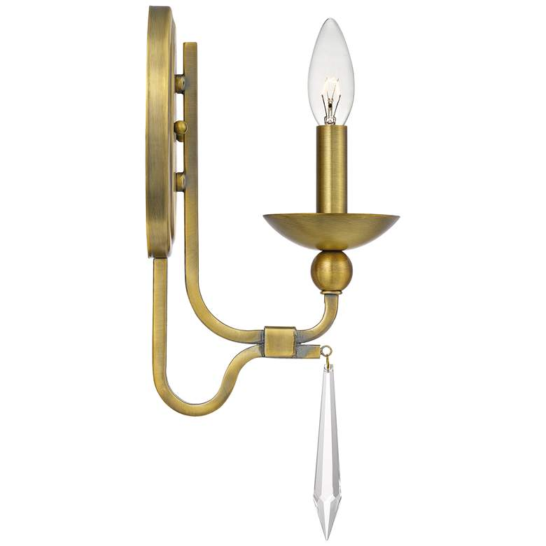 "Quoizel Joules 14 1/2"" High Aged Brass Wall Sconce more views"