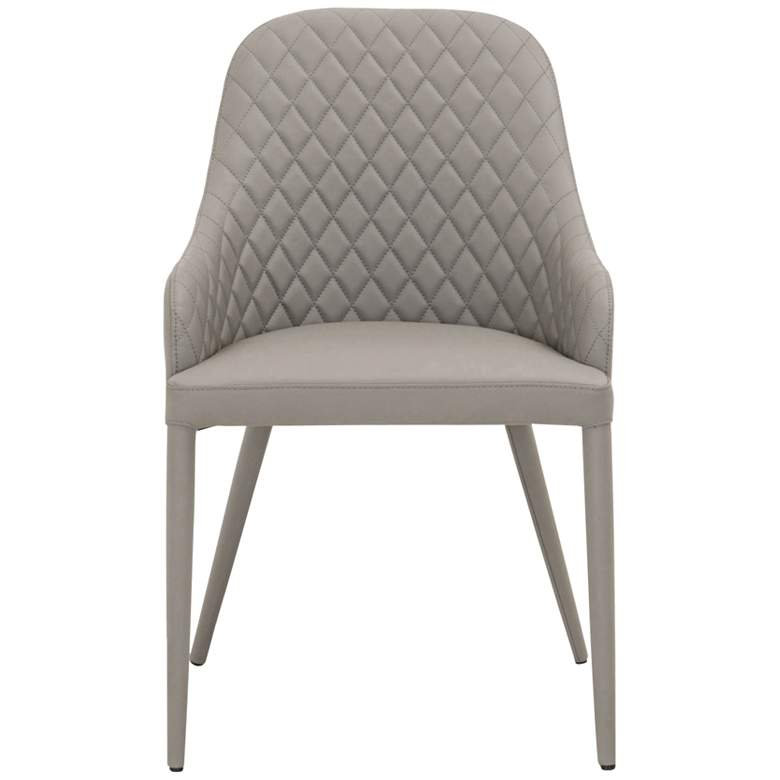 Xander Iron Leather Diamond-Quilted Dining Chair more views