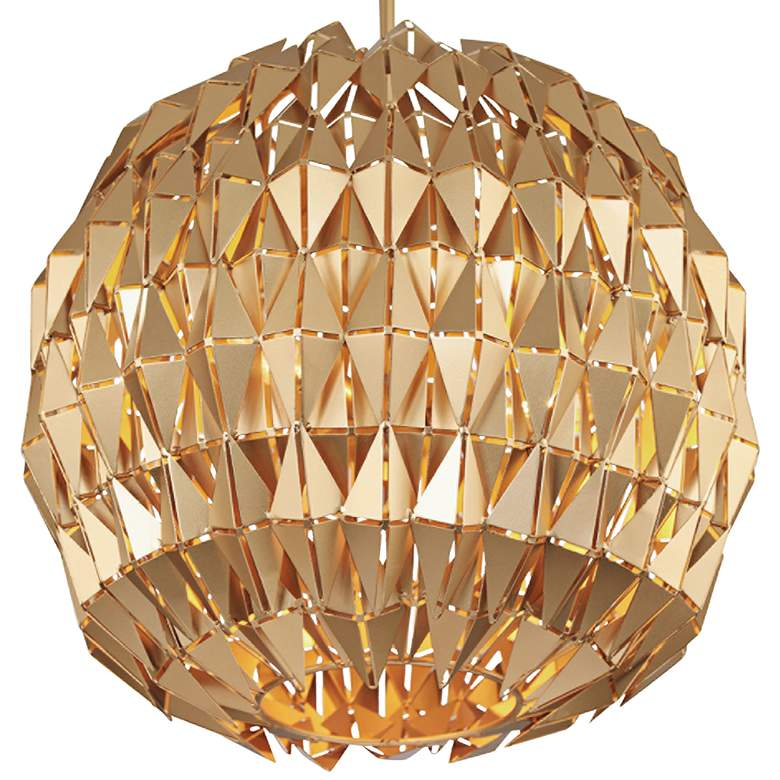 "Varaluz Forever 18"" Wide French Gold Globe Pendant Light more views"