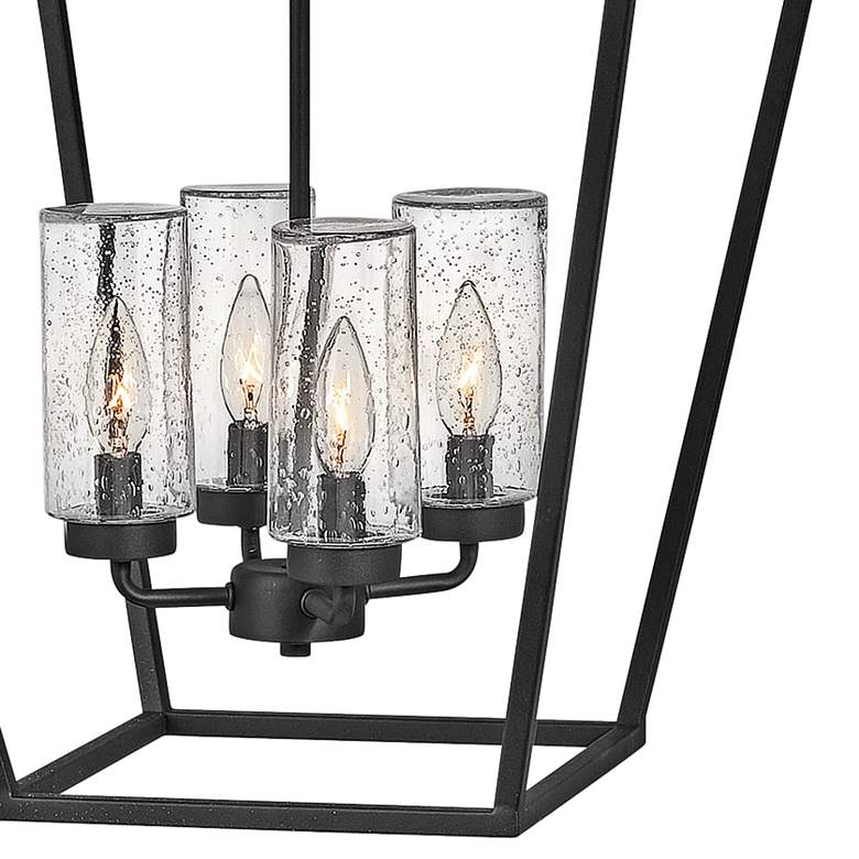 "Alford Place 17"" Wide Black 4-Light Outdoor Foyer Chandelier more views"