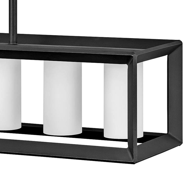 "Rhodes 42 1/4"" Wide Graphite 6-Light Outdoor Island Pendant more views"