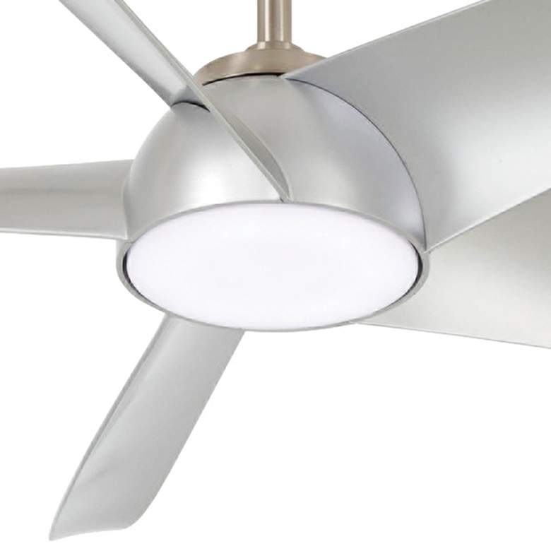 "60"" Minka Aire Ellipse Brushed Nickel and Silver LED Smart Ceiling Fan more views"
