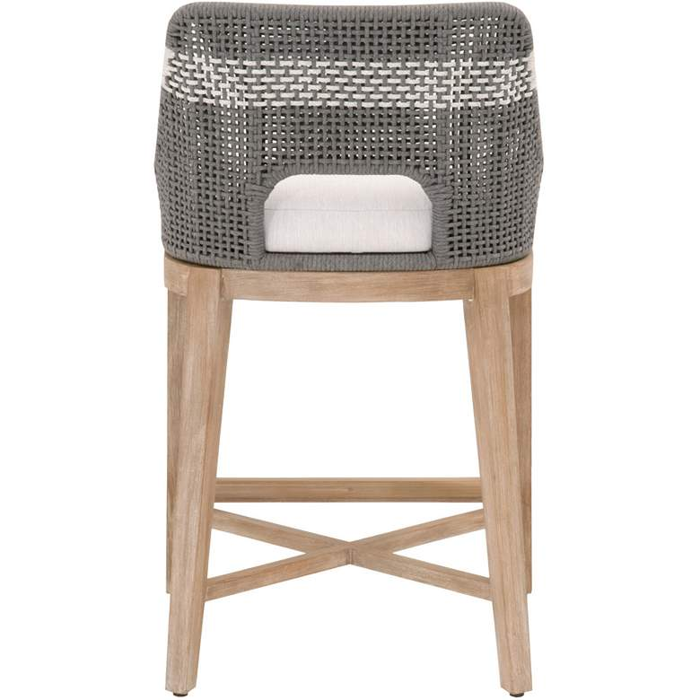 "Tapestry 27"" Dove Flat and White Rope Wood Counter Stool more views"