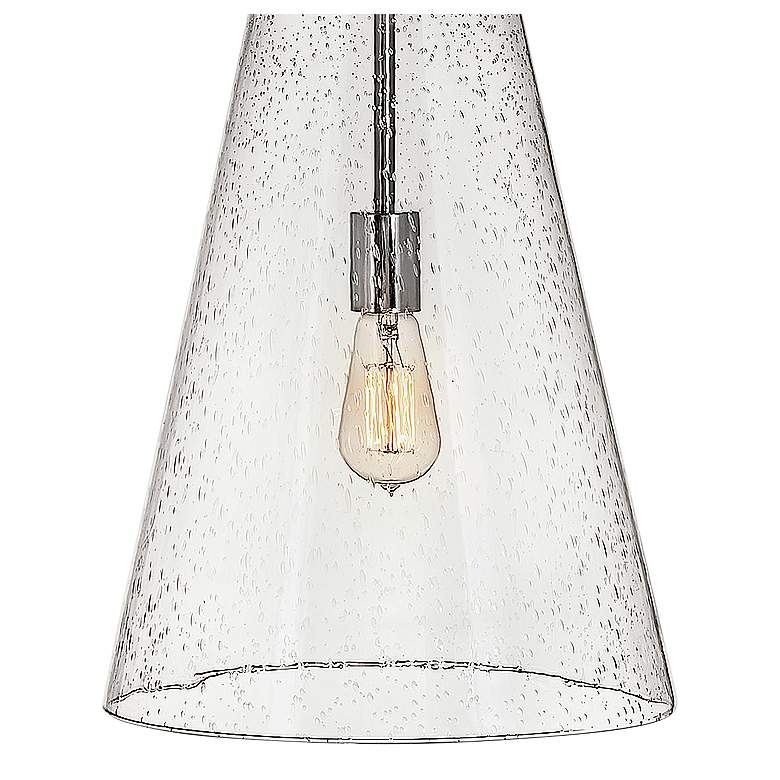 "Hinkley Vance 13""W Polished Nickel and Glass Pendant Light more views"