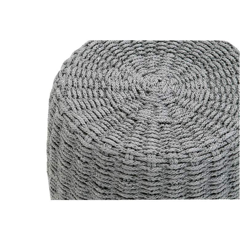 "Loom 16 1/2"" Wide Platinum Rope Round Outdoor Accent Table more views"