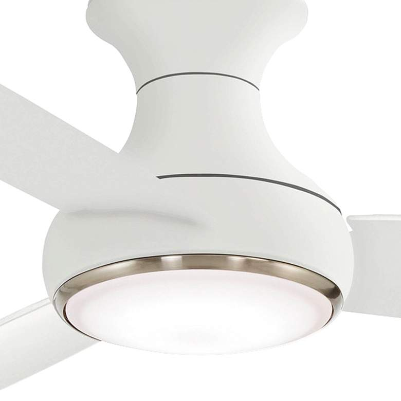 "54"" Concept III White Hugger Smart Fan LED Wet Ceiling Fan more views"