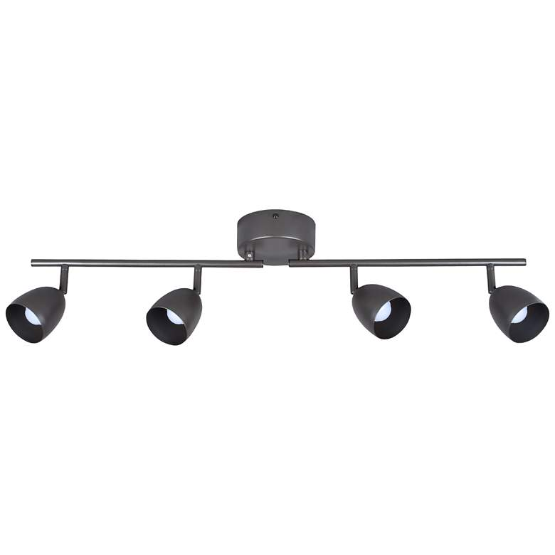 Pro Track Bronze 4-Light White LED Track Fixture more views
