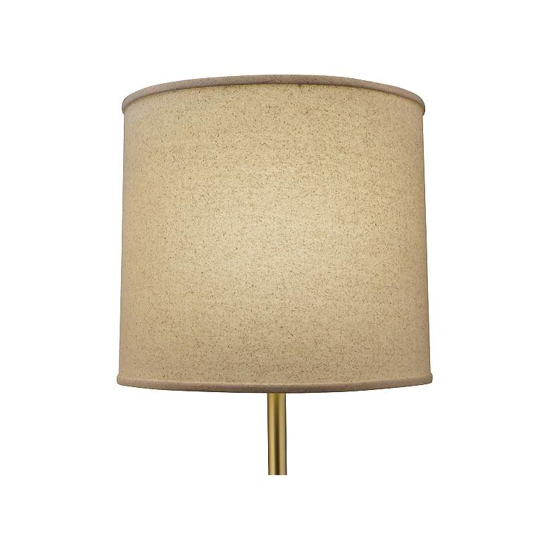Stiffel Sheridan Antique Brass and Faux Leather Floor Lamp more views