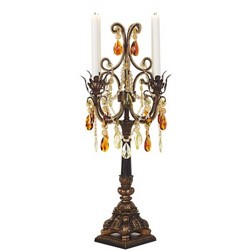 "Kensington Hill 29"" High Bronze-Gold 4-Arm Candle Holder"