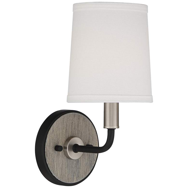 "Possini Euro Isabel 12"" High Brushed Nickel Black Wall Sconce more views"