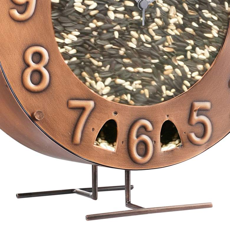 Time Flies Copper Metal Bird Feeder more views