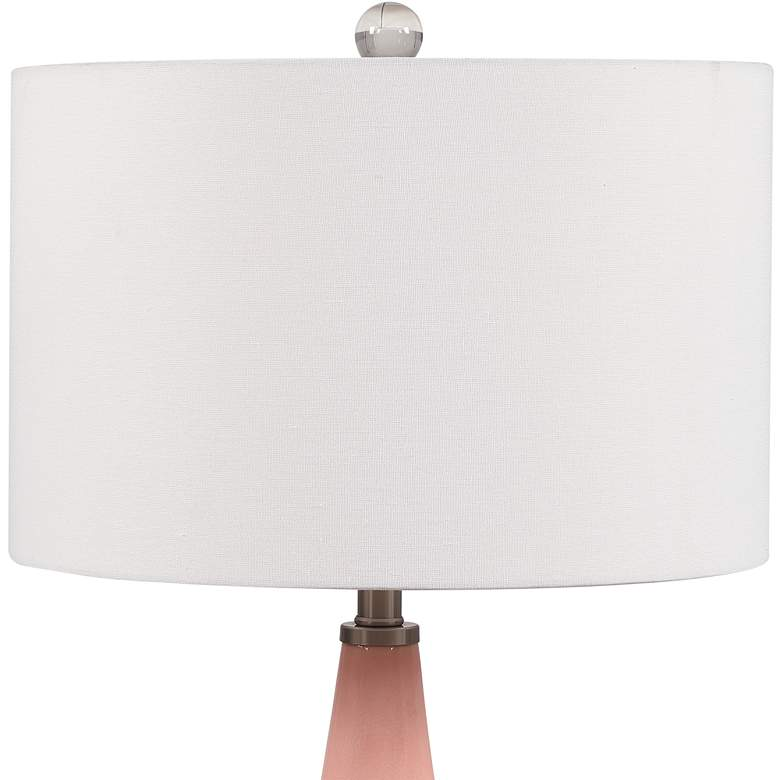 Uttermost Anastasia Light Pink Glaze Ceramic Table Lamp more views