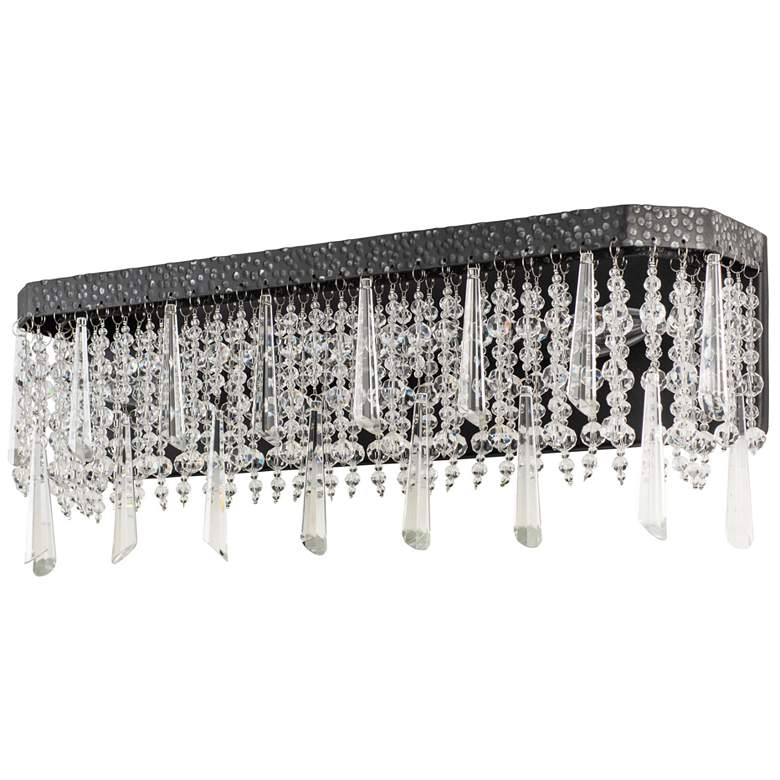 "Varaluz Barcelona 21"" Wide Onyx Crystal 3-Light Bath Light more views"