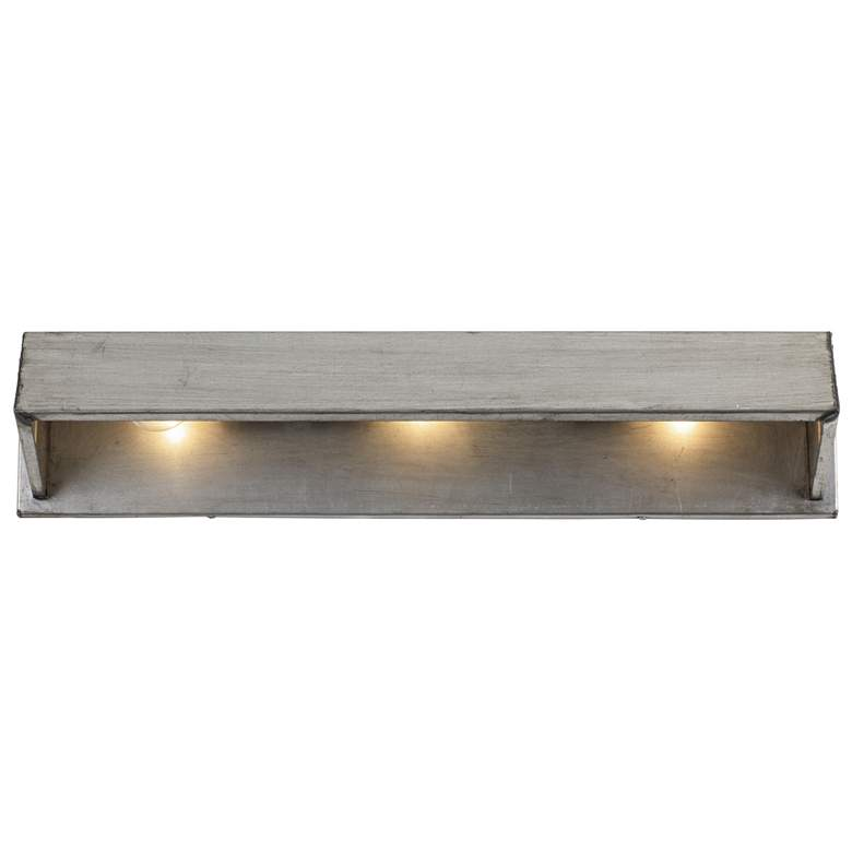 "Varaluz Galvanic 28 3/4"" Wide Ombre Galvanized 3-Light Bath Light more views"