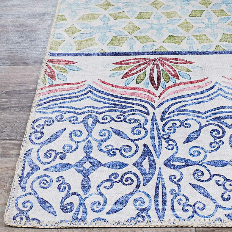 Caledonia Tangiers 5'x8' Aquamarine Indoor Area Rug more views