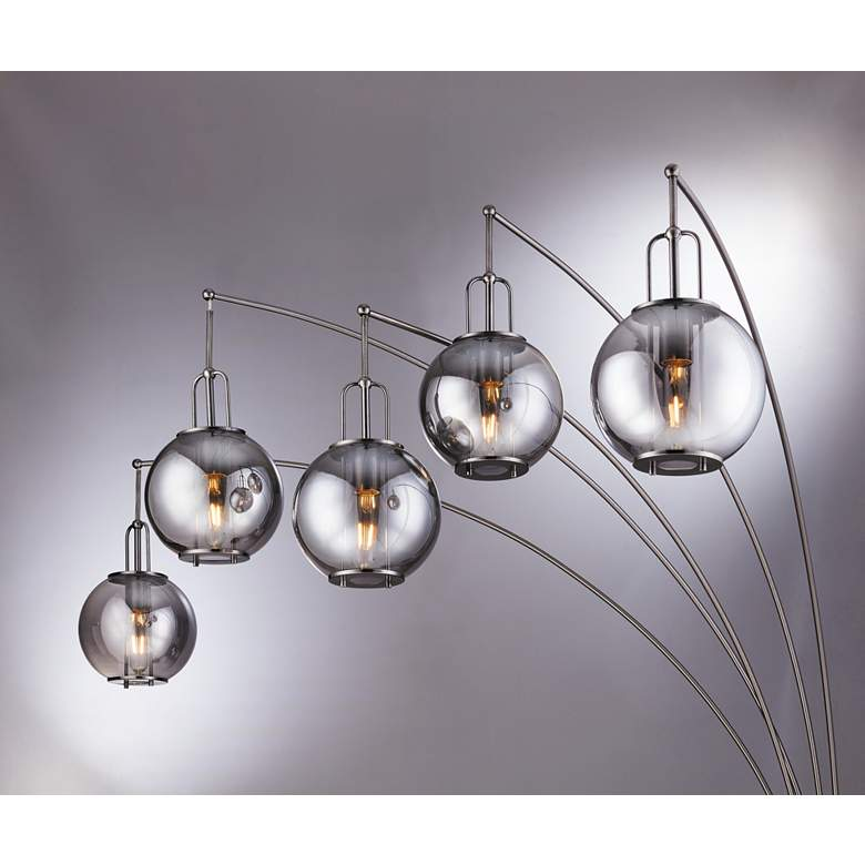 Lite Source Kaira Gunmetal 5-Light Arc Floor Lamp more views