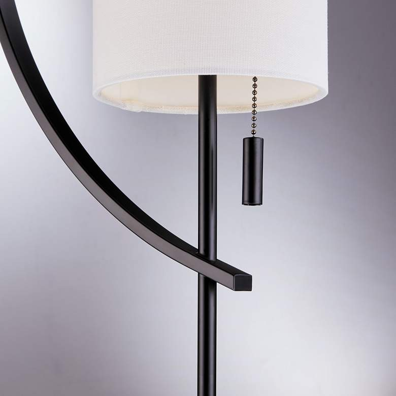 Lite Source Renessa Black and White Floor Lamp more views
