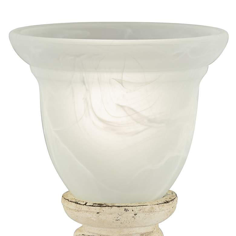 French Console Accent Table Lamp with Alabaster Glass more views