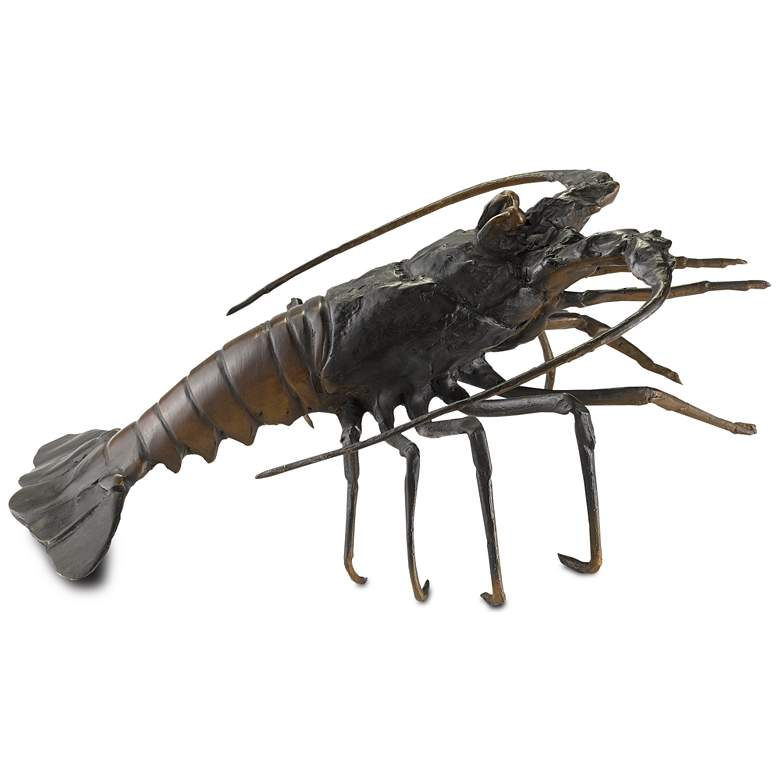 "Edo 15 3/4"" Wide Black and Bronze Lobster Sculpture more views"