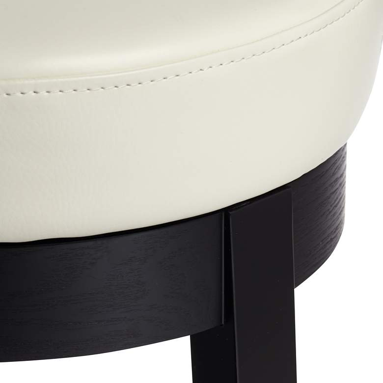 "Cedric 26"" Cream Bonded Leather Swivel Counter Stool more views"