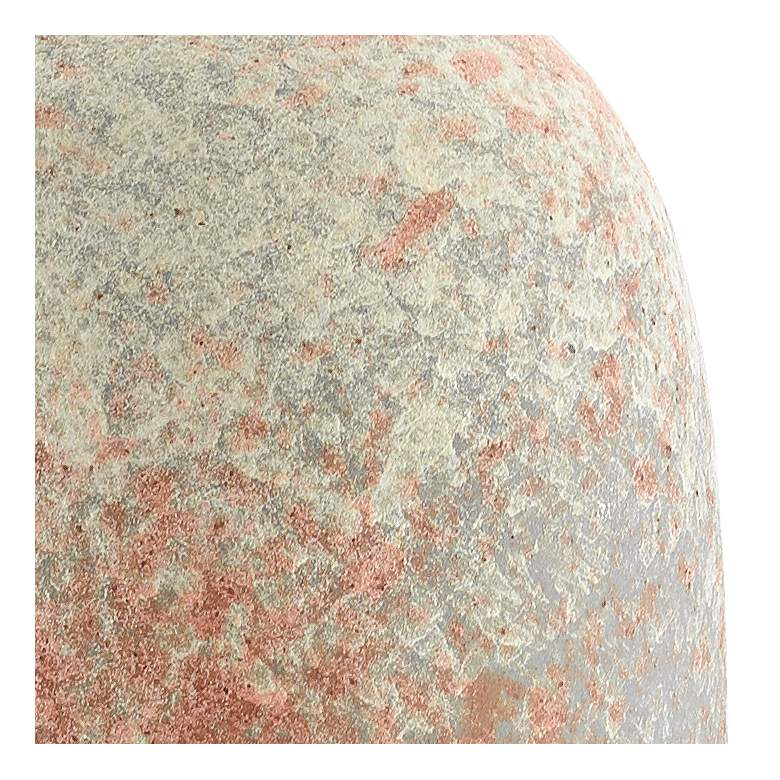"""Sunset Gray Sand and Coral 8 1/2""""H Porcelain Decorative Vase more views"""