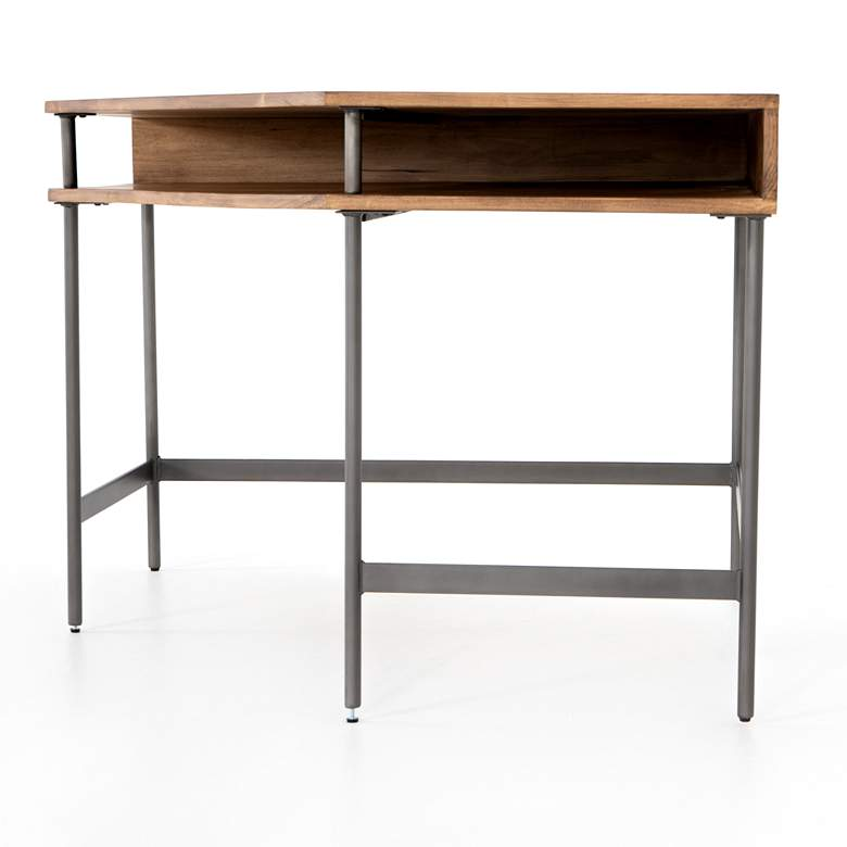 "Joaquin 41 1/4"" Wide Honey Poplar Modular Corner Desk more views"