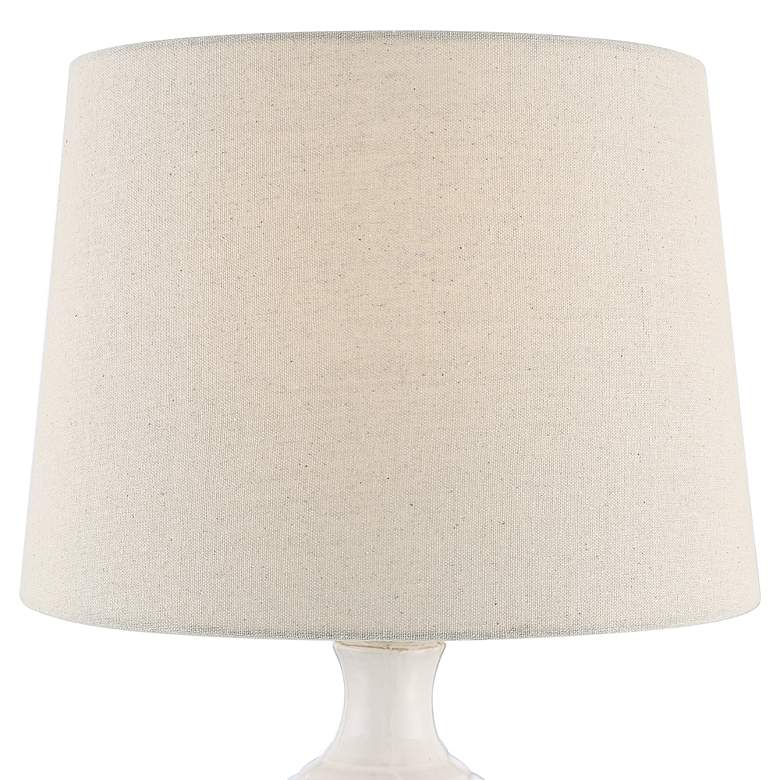 Logan Ribbed Ceramic Modern Table Lamp with Table Top Dimmer more views