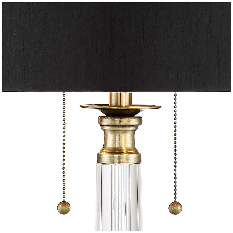 Stephan Crystal Column Table Lamp with Table Top Dimmer more views