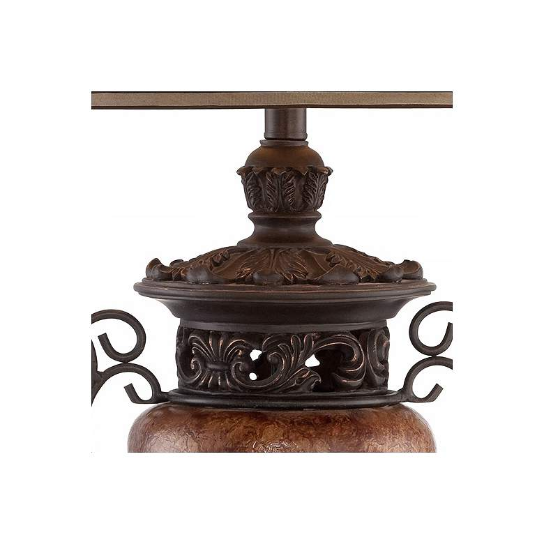 Bronze Crackle Large Urn Table Lamp with Table Top Dimmer more views