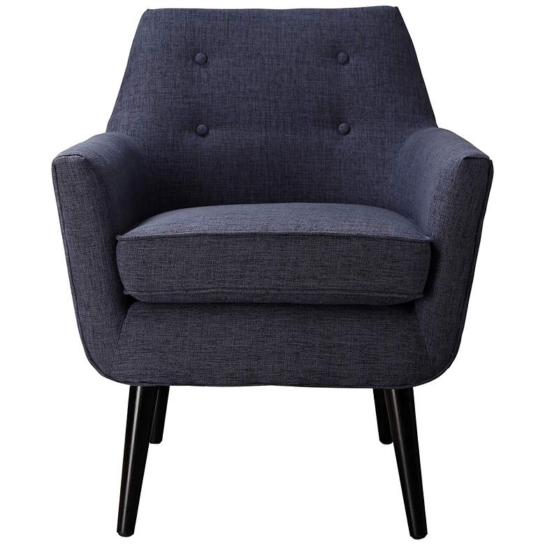 Clyde Navy Linen Armchair more views
