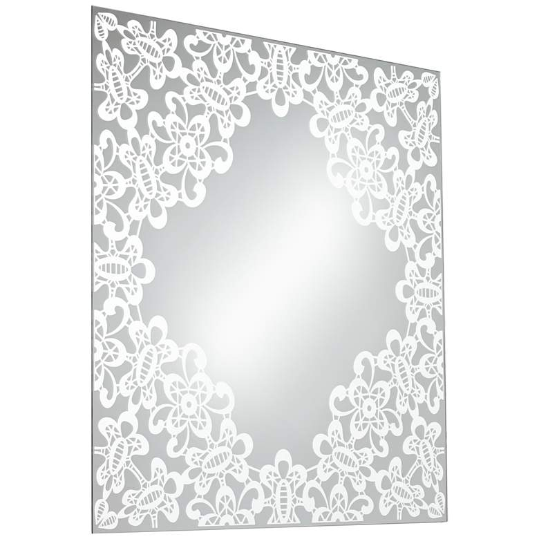 "Carlyss Lace Cutout 34"" Square Wall Mirror more views"