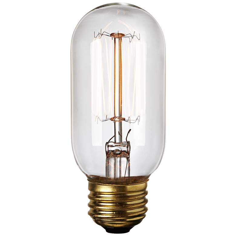 Edison Filament 60 Watt T14 Clear Glass Incandescent Bulb more views
