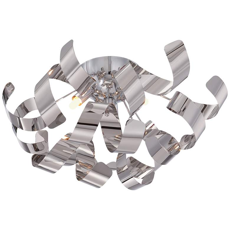 "Quoizel Ribbons 16 1/2"" Wide Polished Chrome Ceiling Light more views"