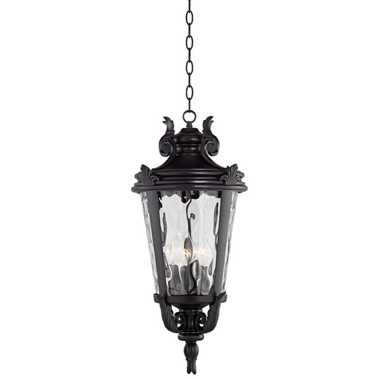 "Casa Marseille™ 26 1/4"" High Black Outdoor Hanging Light more views"