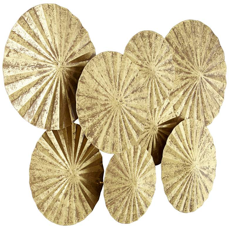 "Dynasty 33 1/2"" Wide Gold Fan Wall Art more views"