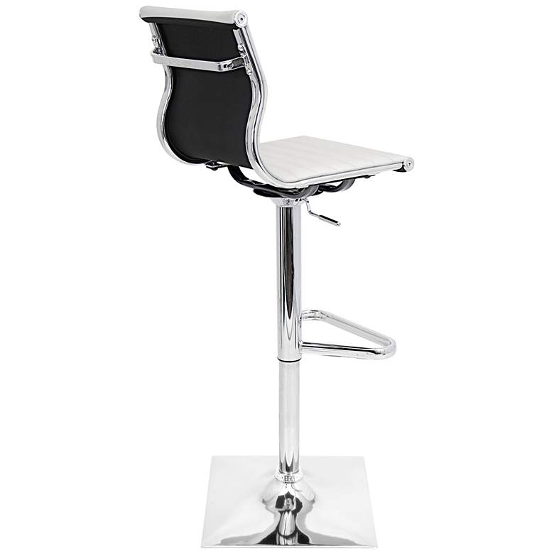 Master White Faux Leather Chrome Adjustable Swivel Bar Stool more views