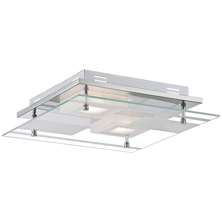 "Reese 13 1/2"" Wide Glass LED Ceiling Light more views"