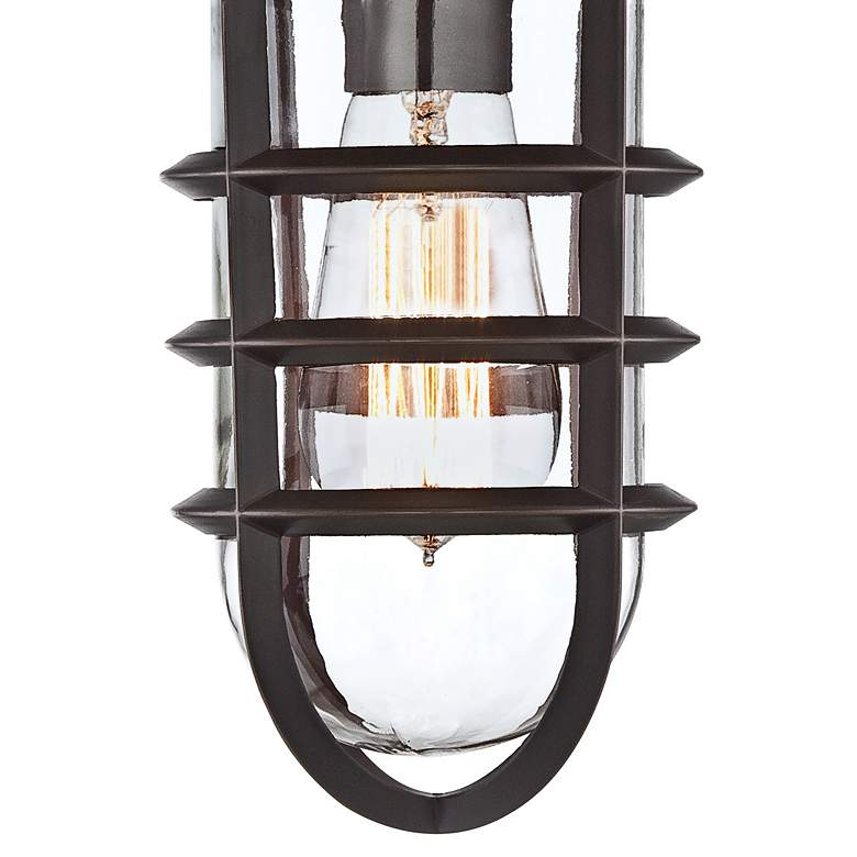"Marlowe 13 1/4"" High Bronze Metal Cage Outdoor Wall Light more views"