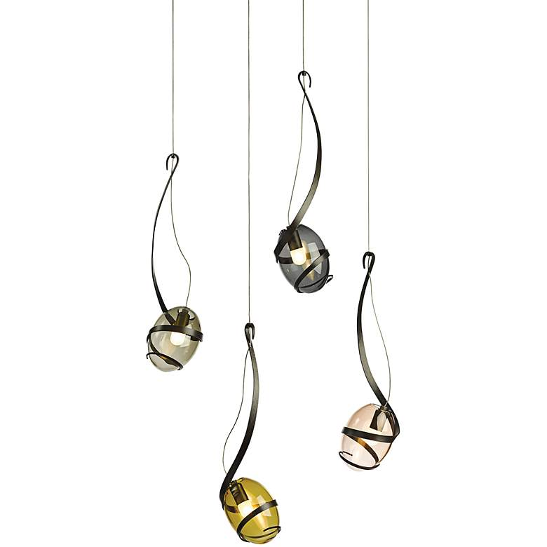 "Hubbardton Forge Pinot 5 1/2"" Wide Dark Smoke Mini Pendant more views"