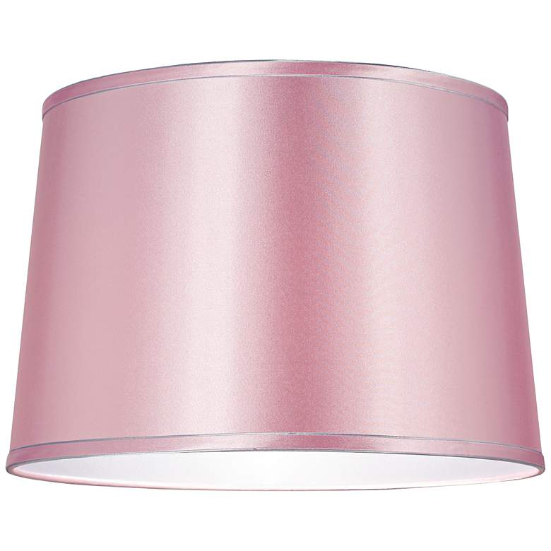 Sydnee Pale Pink Satin Drum Lamp Shade 14x16x11 (Spider) more views