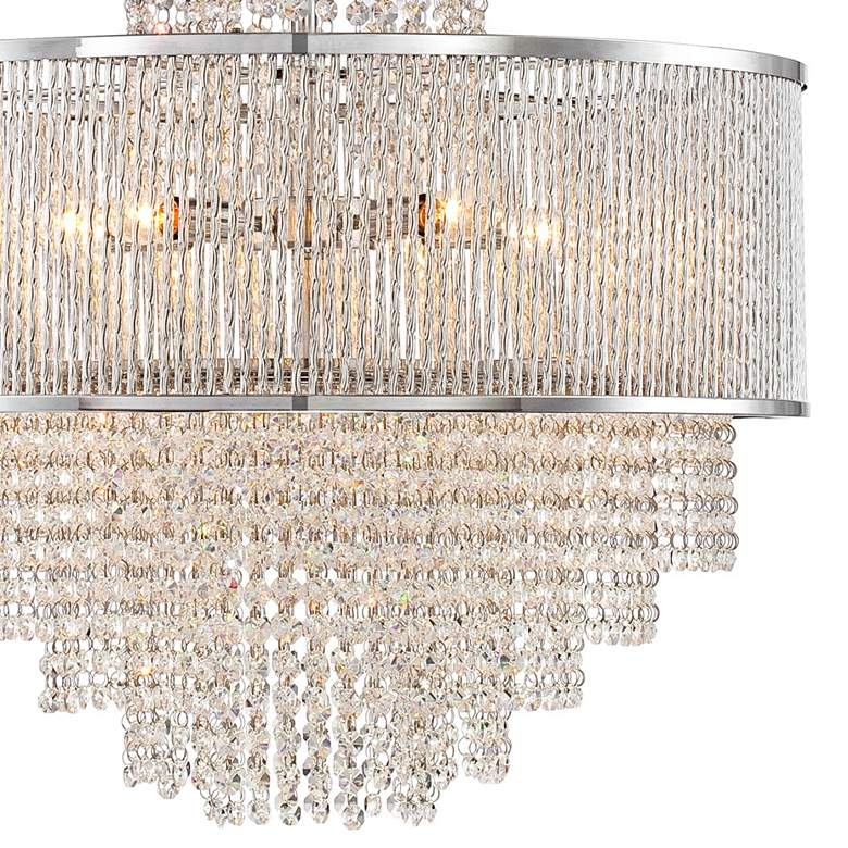 "Pioggia Chrome 23 1/2"" Wide Crystal Chandelier more views"