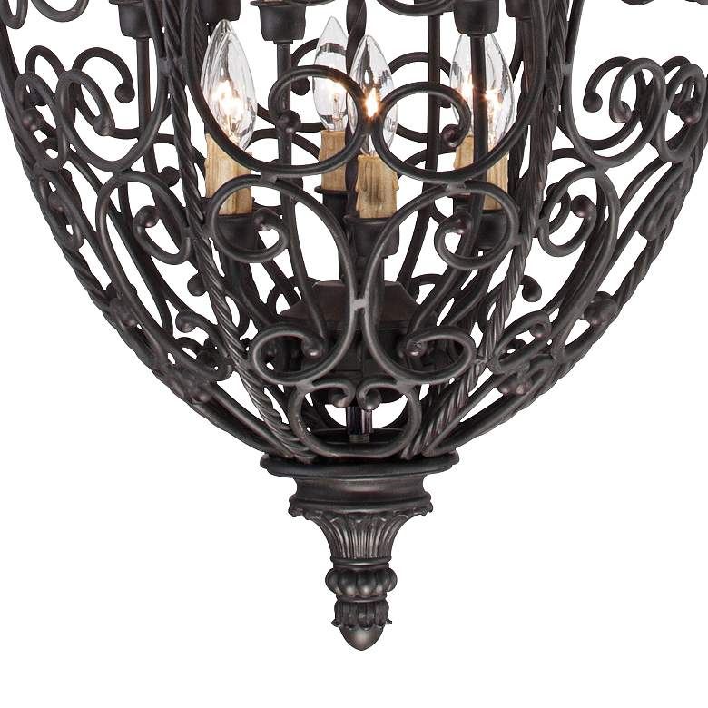 "French Scroll 27 1/2"" Wide 12-Light Foyer Chandelier more views"