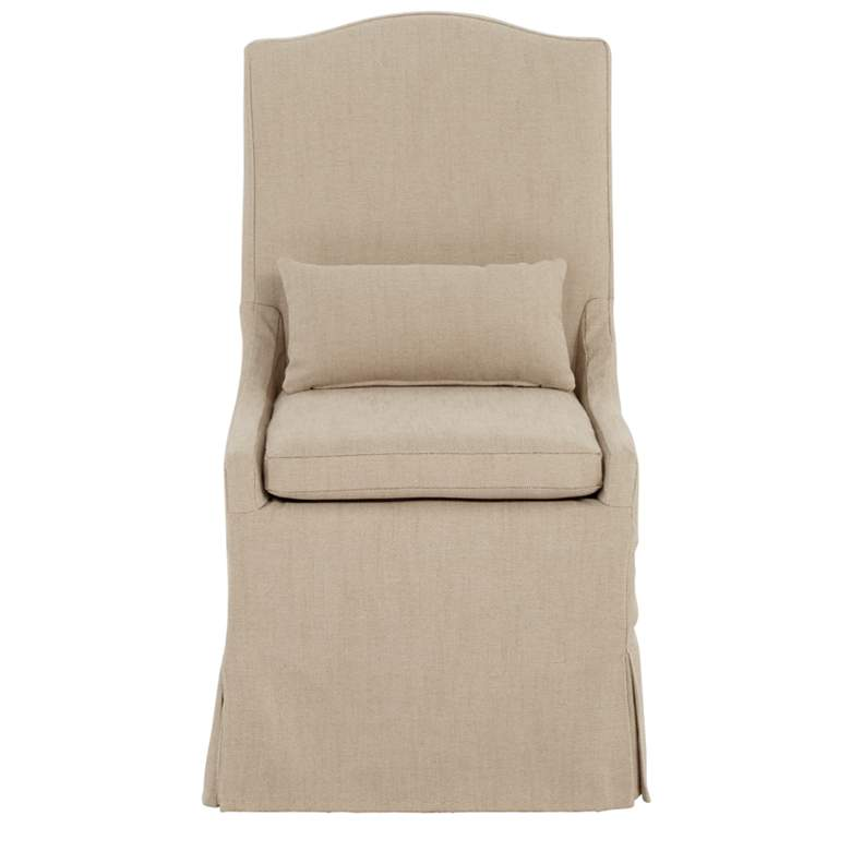 Juliete Hamlet Pebble Slipcover Dining Chair more views
