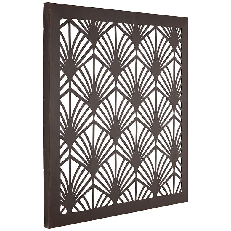 "Openwork Fans 29 1/2"" Square LED Wall Art more views"