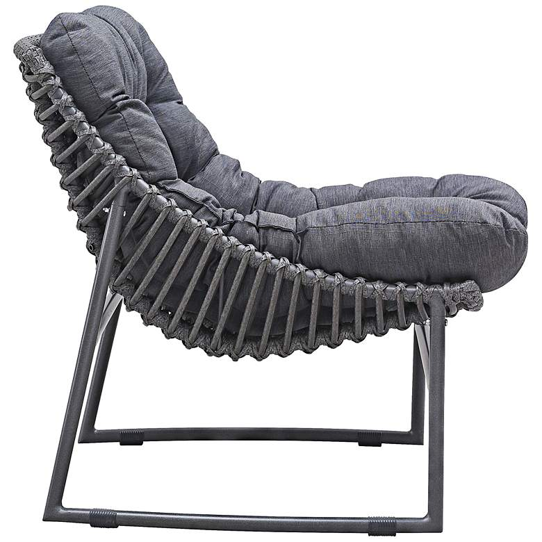 Zuo Ingonish Beach Cozy Weave Gray Aluminum Outdoor Chair more views